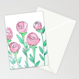 Roses in Spring Stationery Cards
