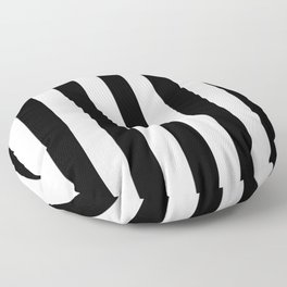 Stripes Black And White Floor Pillow