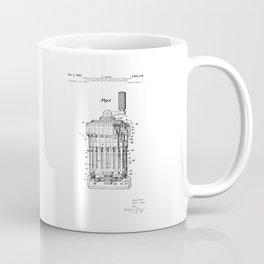 Curta Mechanical Calculator Patent Drawing Coffee Mug
