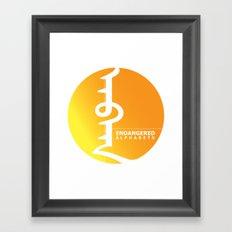 Endangered Alphabets logo Framed Art Print