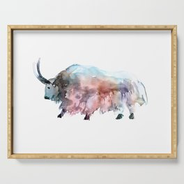 Wild yak 2 / Abstract animal portrait. Serving Tray