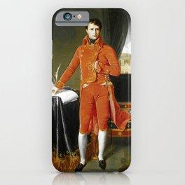 """Jean-Auguste-Dominique Ingres """"Napoleon Bonaparte in the Uniform of the First Consul"""" iPhone Case"""