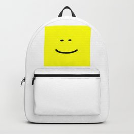 smile face yellow funny logo Backpack