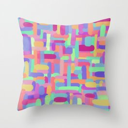 Smudges Throw Pillow