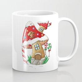 Mushroom gingerbread house Coffee Mug