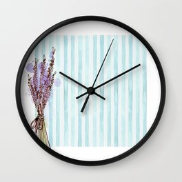 Floral Aesthetic Wall Clock