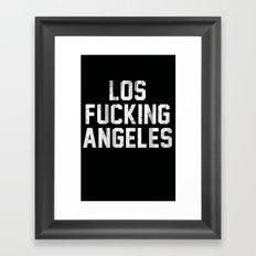 Los Fucking Angeles Framed Art Print
