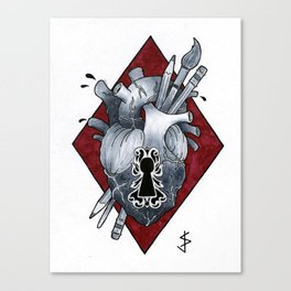 LockHeart Canvas Print