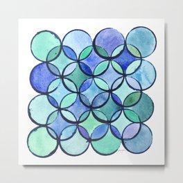 Circles - A Study in Cool Metal Print