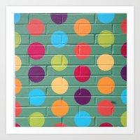 polka dot Art Prints featuring Polka Dot by Atomic Starburst