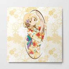 Mami Tomoe - Yukata edit. (rev. 1) Metal Print