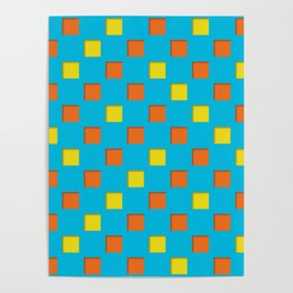 checkered pattern #24 Poster