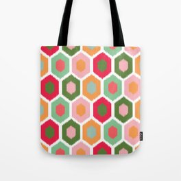 ikat honeycomb tutti fruit #homedecor Tote Bag