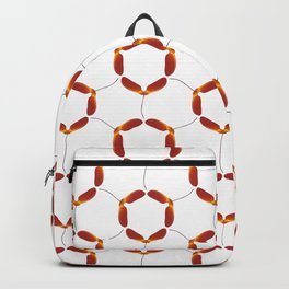Red Japanese Maple Tree Samara Rounded Hex Pattern Backpack