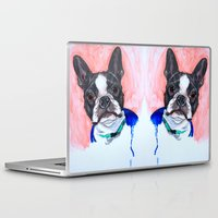 boston terrier Laptop & iPad Skins featuring Boston Terrier by A.M.