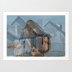 Peace and Love in the fishermans village Art Print