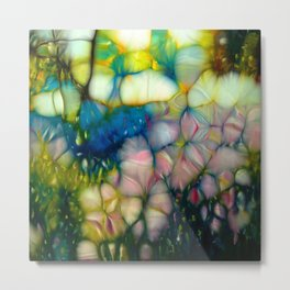 flowers in sunny forest Metal Print