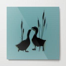 Goose love  Metal Print