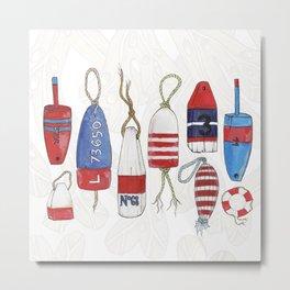 nautical buoys Metal Print