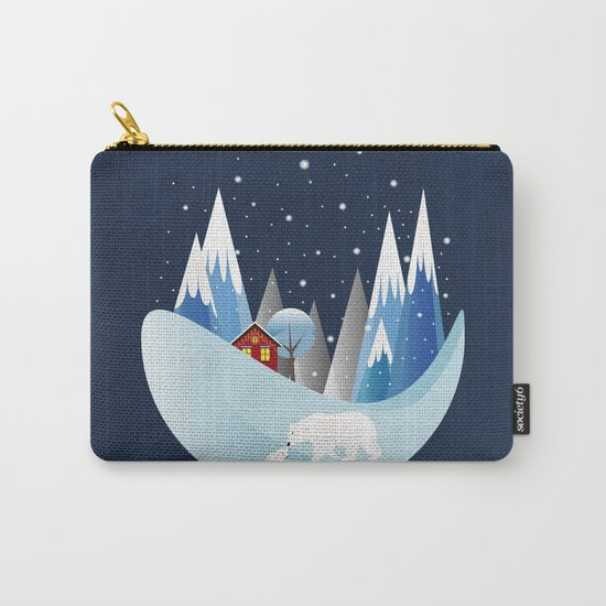 Snowing Bubble Carry-All Pouch