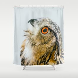 Eurasian Eagle Owl Shower Curtain