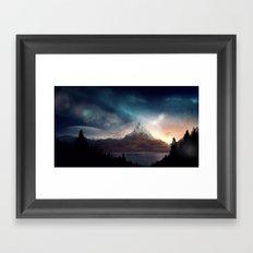 fantasy mountain Framed Art Print