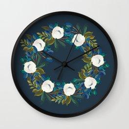 Midnight Fragrance Wreath Wall Clock