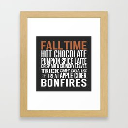 Fall Time Framed Art Print