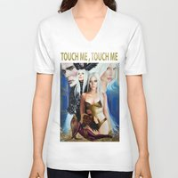 versace V-neck T-shirts featuring G.U.Y VERSACE GODDESS by CARLOSGZZ