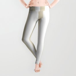 Mixed Vertical Stripes - White and Pearl Brown Leggings