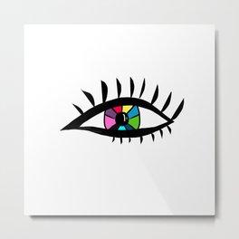 Eye design Metal Print