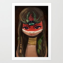 Red face ;) Art Print