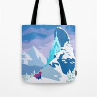 frozen Tote Bags featuring Frozen by TheWonderlander