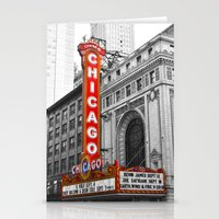 theater Stationery Cards featuring Chicago Theater by Chris Martin