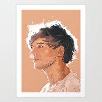 louis tomlinson Art Prints featuring Louis Tomlinson  by Danny Jarratt