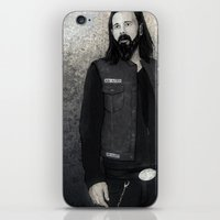 "sons of anarchy iPhone & iPod Skins featuring Sons Of Anarchy ""Opie Winston"" by Steal This Art"