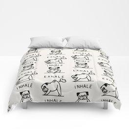 Inhale Exhale Pug Comforters