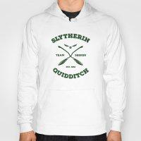 quidditch Hoodies featuring Slytherin Quidditch Team Seeker: Green by Sharayah Mitchell