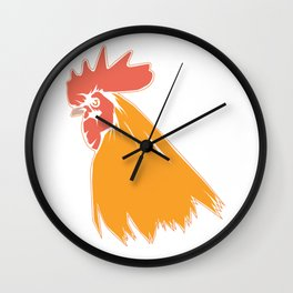 Rooster Cock Head Feather Chicken Bird Gift Wall Clock