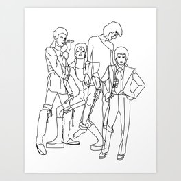 Davie Bowie Line Print Art Print