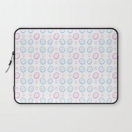 polka dot chalk version – blue and pink Laptop Sleeve