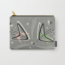 Atomic Boomerangs on Gray Carry-All Pouch