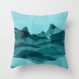 Mountain X 0.1 Throw Pillow