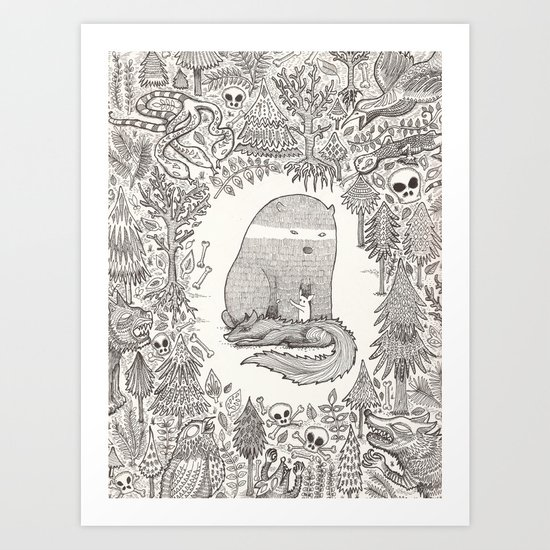 froggle, doggle and poggle Art Print
