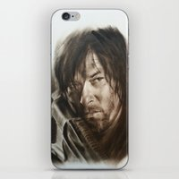 daryl iPhone & iPod Skins featuring Daryl Dixon by David Nash