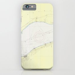 Vintage Map of Lake Erie (1955) iPhone Case