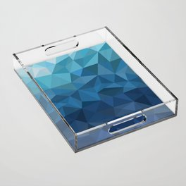 blue geometric Acrylic Tray