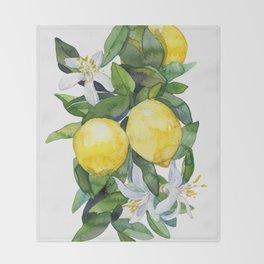 lemon tee Throw Blanket