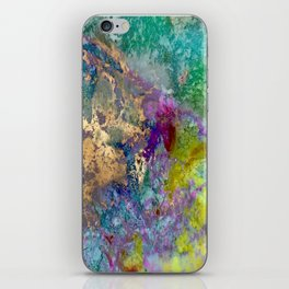 Galaxy, abstract, gold accent iPhone Skin