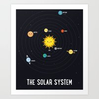 solar system Art Prints featuring Solar System by Sara Showalter